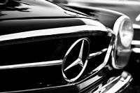Mercedes - Grill Rozmiar - 90x60, Rodzaj płótna - Ekonomiczny