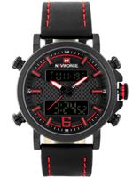 ZEGAREK MĘSKI NAVIFORCE - NF9135 (zn076c) - black/red + box