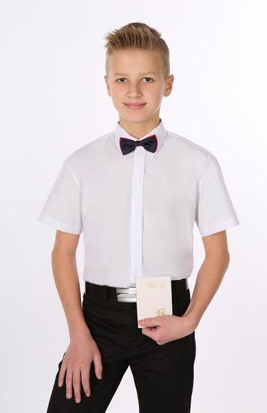 Biała koszula komunijna, krótki rękaw. 86 zdjęcie 3