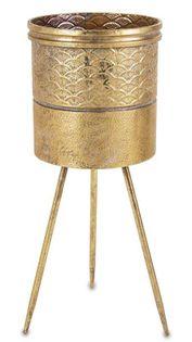 Osłonka kwietnik nóżki złota metalowa 72 cm