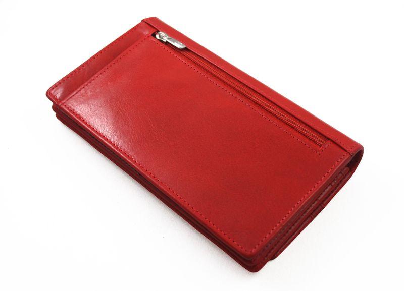 Portfel damski Samsonite RFID, skórzany w kolorze czerwonym zdjęcie 5