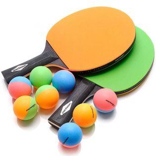 Zestaw do tenisa stołowego Meteor Rainbow 2 rakietki 8 piłeczek 15024