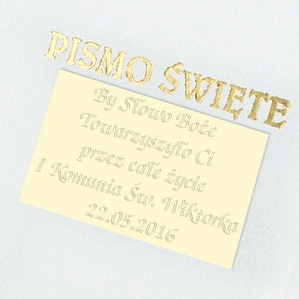 PISMO ŚWIĘTE BIBLIA PREZENT CHRZEST GRAWER zdjęcie 2