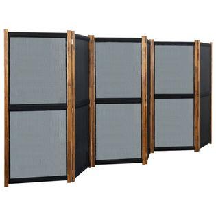 Parawan 6-panelowy czarny 420x170cm VidaXL