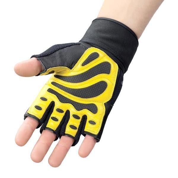 Rst01 Black/yellow Rozm. S Rękawice Na Siłownię Hms zdjęcie 5