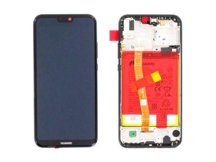 100% Oryg Nowy Przód z LCD i baterią P20 Lite kolor black