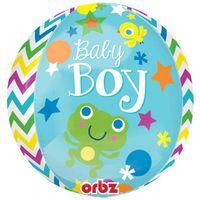Balon foliowy KULA Baby Shower Boy chłopiec błękit