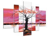 Obraz Drukowany 150x105 Rozłożyste drzewo o zachodzie słońca abstrakcja  bezkonkurencyjny