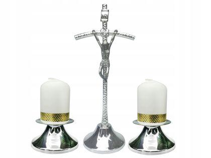 CUDOWNY Komplet kolędowy Papieski srebrny Kolęda Zestaw