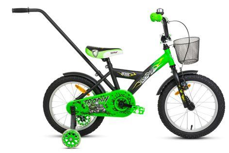 Rower 16 Rock Kids TROPHY czarno-zielony mat 2021