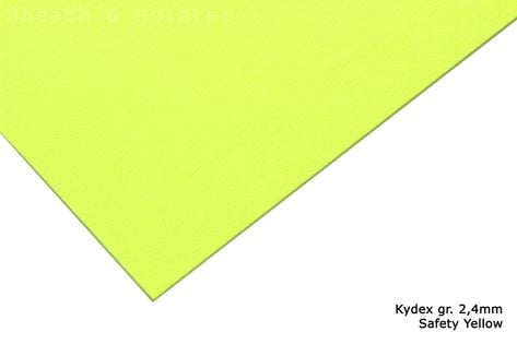 Kydex Safety Yellow - 150x200mm gr. 2,4mm