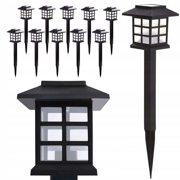 SOLARNA LAMPA OGRODOWA LAMPKI WBIJANA LAMPION LED zdjęcie 1