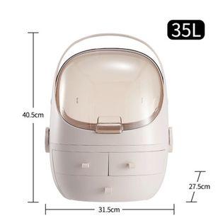 Toaletka Na Przybory Do Makijażu- Organizer  Wielofunkcyjny Różowy XL L