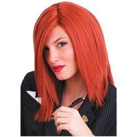PERUKA ruda LILLY proste włosy rude KRÓTKIE