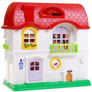 Duży Rozkładany Dom dla lalek + akcesoria