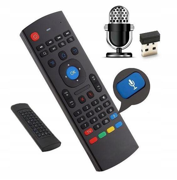 Pilot MX3 PRO Smart TV Air Mouse BOX TV Z MIKROFON zdjęcie 1