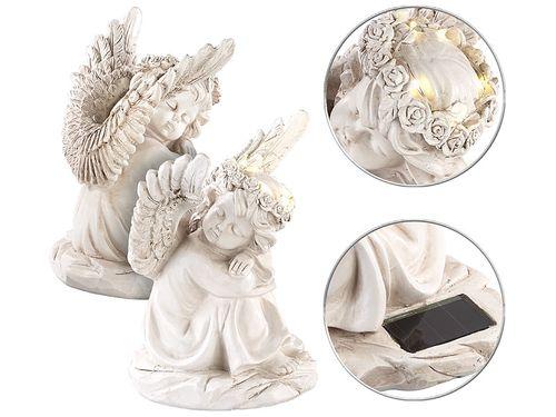 Rzeźba solarna śpiące aniołki Lunartec na Arena.pl