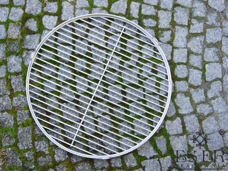 Ruszt do grilla ze stali nierdzewnej - okrągły 50 cm ES-ER zdjęcie 7