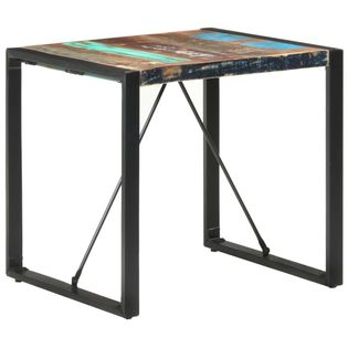 Stół jadalniany, 80 x 80 x 75 cm, lite drewno z odzysku
