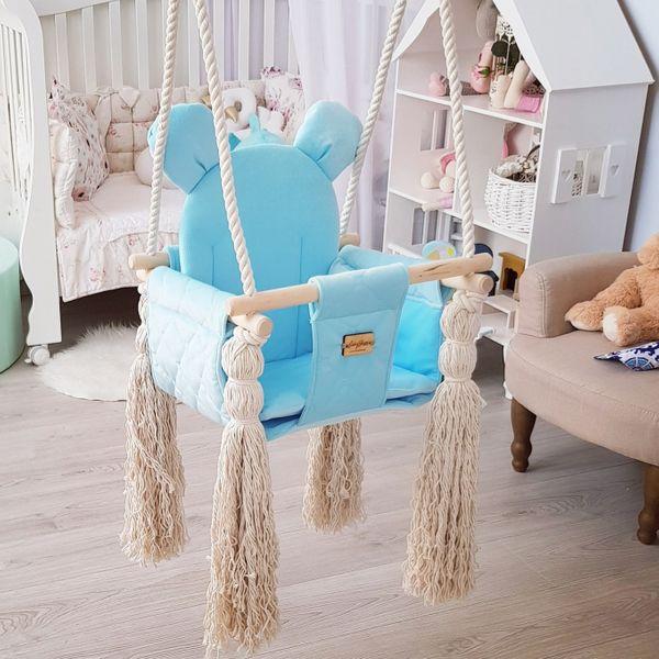 Huśtawka dla dzieci VelvetSwing – Baby Blue zdjęcie 5
