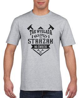 Koszulka męska NAJLEPSZY STRAZAK NA SIWIECIE s XXL