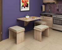 Stół składany przyścienny Alpin 8 - 100x70 cm - bez taboretów