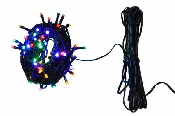 Lampki ogrodowe 100 LED, kolorowe zdjęcie 3