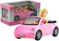 Auto Dla Lalki Cabrio z Dźwiękiem + Lalka
