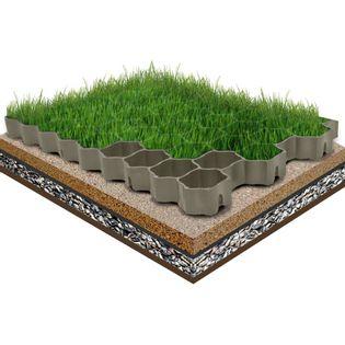 Lumarko Kratki trawnikowe, 16 szt., zielone, 60x40x3 cm, plastik