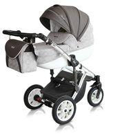 Szary wózek dziecięcy Starlet Premium Milu Kids zestaw 3w1