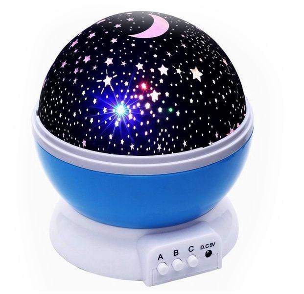 Lampka nocna dziecięca projektor gwiazd nieba obrotowa Y67 zdjęcie 1