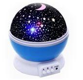 Lampka nocna dziecięca projektor gwiazd nieba obrotowa Y67