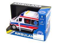 Auto Karetka Ambulans Dźwiękami Światłem 20cm