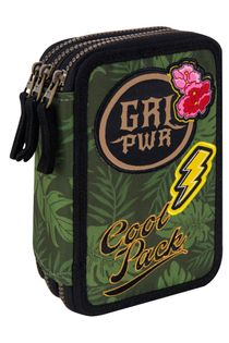 Coolpack Jumper 3 Piórnik Potrójny z wyp. Green G