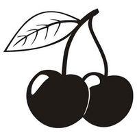 Szablon malarski D 03, dla dzieci, D03, wiśnie, owoce, wisienki Rozmiar - M, Szablon - Samoprzylepny, Odbicie lustrzane - Tak