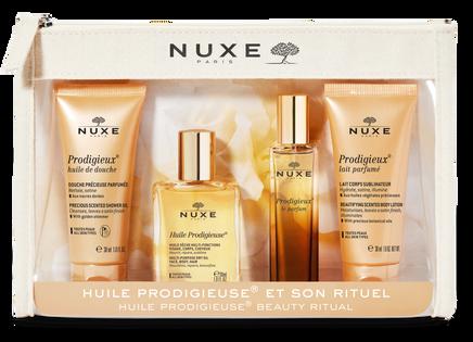 NUXE Kosmetyczka podróżna Travel kit 2021 - Suchy olejek 30ml + Perfumy