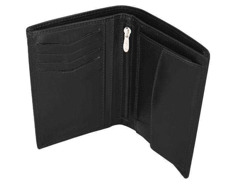 258f840295b28 Skórzany portfel męski polskiej marki Revio z wyjmowaną wkładką, czarny  zdjęcie 4