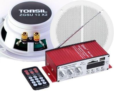 TONSIL RADIO ŁAZIENKOWE SUFIT BLUETOOTH MP3 FM BT