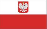 Flaga POLSKA 70X112 cm z godłem