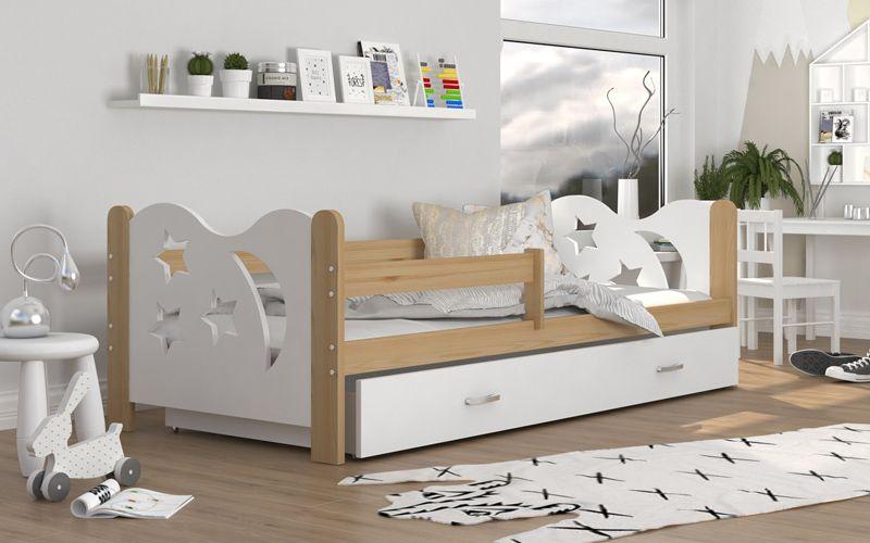 Łóżko dla dzieci MIKOŁAJ 190x80 + szuflada + materac zdjęcie 3