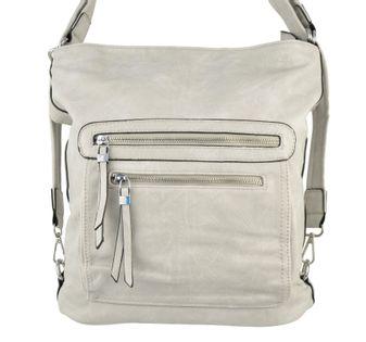 Plecak torebka 2w1 plecako torba szara worek A4 damska