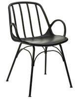 Krzesło CASTERIA czarne polipropylen