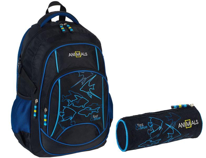 Animals Plecak szkolny młodzieżowy Fast&Blue + piórnik zdjęcie 1
