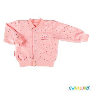 """Bluza rozpinana dla dziewczynki """"SUN"""" Ewa Klucze - koral,"""