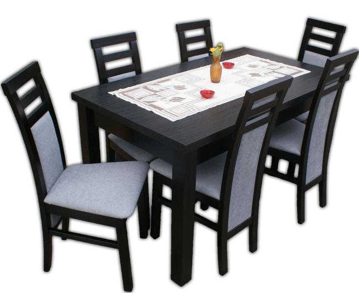 Stół Z 6 Krzesłami Do Jadalni Salonu Od Producenta