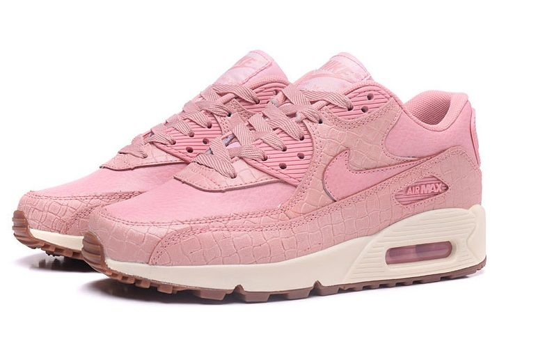 Nike Air Max 90 Damskie Różowe Białe