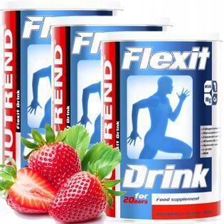 Nutrend Flexit Drink 3X400 g MSM COLLAGEN KOŚCI