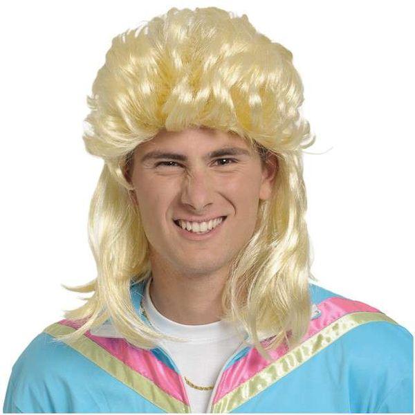 Peruka Party Długie Męskie Włosy Disco Blond Grzyw
