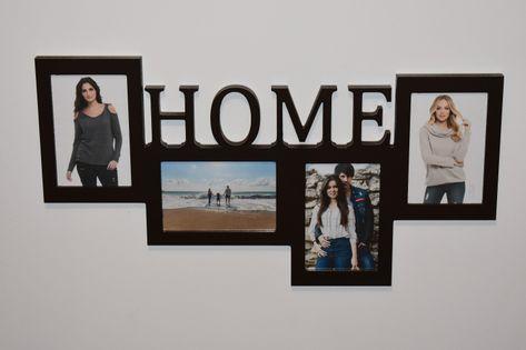 Multirama drewniana ramka na zdjęcia z napisem  Home
