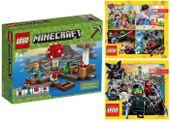 LEGO MINECRAFT 21129 GRZYBOWA WYSPA + 2 KATALOGI LEGO